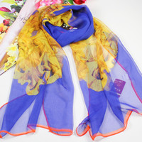 Wholesale High quality hijab fashion Chiffon Scarf chiffon imitate silk scarf Charming Pure Scarf