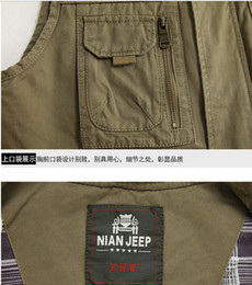Wholesale American classic nian Jeep vest Man the spring and autumn period and the recreational fishing cotton The director of photography vest vest