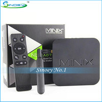 Wholesale Orginal Brand MINIX NEO X8 Amlogic S802 Quad Core Android TV BOX G G Dual Band K UHD G G WIFI Bluetooth XBMC with Air Mouse
