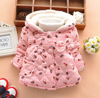 Girl add winter coats - Winter Baby Girl Coat Printing Bear Thicken Add Wool Warm Lace Children Cotton Coat Colour In Stock Fit Age Kids Outwear WD207