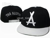Cheap Wholesale - Tha Alumni Snapback Adjustable Flat Brim Hats Alumni Music Group Black Caps Modern Stylish Caps Gift