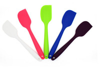 Wholesale New Arrive Wedding Candy Color Silicone Cake Spatula Batter Scraper For Snowflake Cake Tools