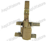 Wholesale New Airsoft Tactical D Pistol Drop Leg Holster For Left Hand Coyote Brown