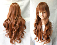 sexy wig - New Sexy Womens Girls Fashion Style Wavy Curly Long Virgin Hair Full Wigs Flaxen DH04