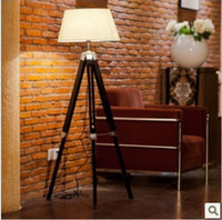 Wholesale Promotion Quality Luxury Meike American Style Tripod Wool Floor Lamps Lights Lighting Beside Lights Indoor Lighting Fixtures