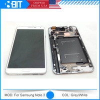 Wholesale 100 Original Galaxy Note LCD Display For Samsung N9000 LCD Touch Screen Digitizer Assembly Repair Parts White Grey