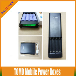 10pcs!TOMO Mobile Power Boxes Dual usb TOMO V8-4 Mobile Power Boxes 4 Slot 18650 Charger With Protection Circuit for Samsung Vtc4 AW Battery
