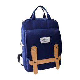 S5Q Canvas Backpack Travel Bag Fashion Women Girl School Shoulder Bag Rucksack AAADUQ