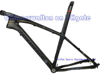 Wholesale 2013 MTB bike frame LOOK E Post Mountain bike ER ER MTB carbon frame with stem black label white color size M color L3 sell