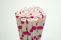 Wholesale Paper Straws Chevron Patterns Striped Polka Dots Drinking Paper Straws