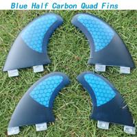 Wholesale new arrival Half carbon FCS quad surf fins new arrival fiberglass honeycomb fcs quad fins set FCS surf fin