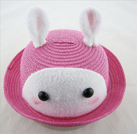 Cheap Children's winter hatKorean version of the deer animal shaped hat cap child hat baby hat bucket hatswinter fur hats