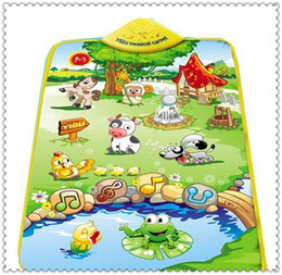 Free Shipping wholease- Music Sound Farm Animal Kids Baby Children Play Mat Carpet Playmat Gym Toy