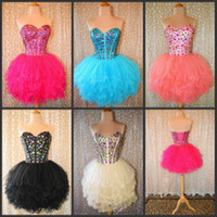 short corset dresses for prom - Party Dresses with Crystals Sweetheart Corset After Reception Dress Cheap Ball Gowns for Young Girls Sexy Short Prom Homecoming Dresses