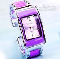Wholesale Fashion Wrist Watches Purple Bangle Watch Bracelet Watches Gorgeous Lady Girl Bangle Bracelet Watches