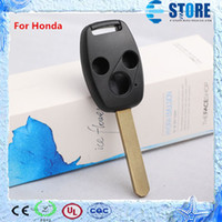 Wholesale 3 Buttons Remote Key Cover for Honda Uncut Key Blade DHL Free Fast ship A