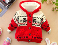 Wholesale Hot Sale Winter Baby Coat Printing Cartoon Bear Thicken Children Cotton Coat Add Wool Warm Fit Age Kids Clothes Outwear retail WD209