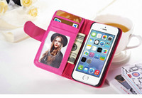 Wholesale Wallet Style Stand PU Leather Case For iPhone G quot Inch Flip Phone Bag With Card Slot Photo Frame holder iPhone6 Cover
