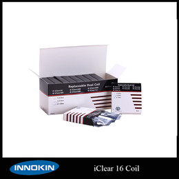 Innokin Coil Heads For iClear 16 BDC Clearomizer Replacement Dual Coil Heads Iclear16 Replaceable Coil Heads Via DHL Free shipping