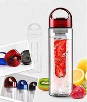 Wholesale 2014 New Plastic Cup Water Bottle Transparent Bottle Creative Fruit Kettle Lemon Bottle Outside Sport Fruit Cup