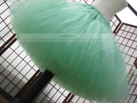 Wholesale Custom Mint Green Tulle Petticoat Ball Gown Mini Skirt Cupcake Crinoline Christmas Party Pettiskirt Color Bridal Wedding Petticoats Cheap