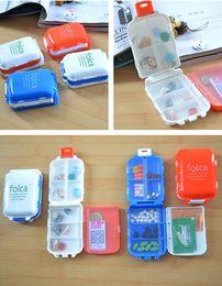 Wholesale 4PCS Portable Folding Lovely Travel Foldable Mini Vitamin Drug Tablet Case Pill Box Container Storage