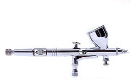 Wholesale U119 Dual Action Gravity Feed Airbrush mm Gun Spray Art Paint Tattoo Nail Tool