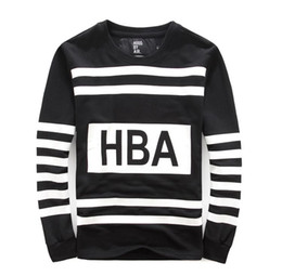 Wholesale U S Tide brand HOOD BY AIR HBA Wu also where the same paragraph striped men s sweater men s jackets hedging