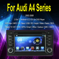 Wholesale Car Radio GPS Navi Pure Android Car DVD Player For Audi A4 Dual Core A9 GHz Din quot Capacitive RDS Wifi Canbus DVB T RTV Box