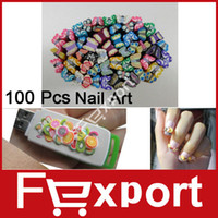 Wholesale 100Pcs Pack Nail Art Canes D Nail Stickers Decoration Polymer Clay with Butterfly Shape