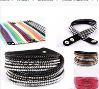 Wholesale Hot diff color handmade Bracelet Rhinestone Bling Crystal fashion Wrap Bracelet