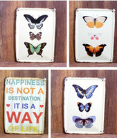 Cheap Metal Vintage Tin Signs Animal Butterfly Plaque Metal Pub Wall Tavern Garage Shabby Chic Decor Home Shop Wall Hanging Art Decor