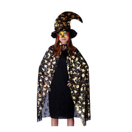 Wholesale Halloween Costume Masquerade Adult Clothes Props Pumpkin Cape Cloak Pumpkin Hat M melon Cloak