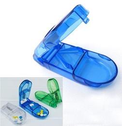 Wholesale 25PCS Divide Storage Pill Boxes Holder Vitamin Case Medicine Tablet Cutter Splitter