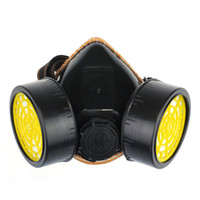 Cheap 2014 New Arrival With Dual Double Protection Filter Emergency Survival Safety Gas Mask Free Shipping&Wholesale