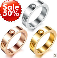 Wholesale Fashion Ring Designs Women Jewelry Vintage Accessories Punk Exquisite Gift Screw Titanium Ring Min Order Mix Order