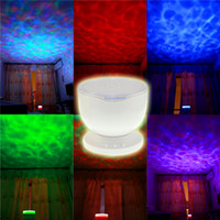 aurora christmas light - New Aurora Led Night Light Projector Ocean Daren Waves Projector Lamp With Speaker Novelty Gift