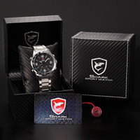 Wholesale Luxury Leather Box Full Steel Watch Men Male Clock Montre Homme Relogio Digital Outdoor Sport Waterproof LED Watch SH005