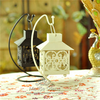 Wholesale 2PCS Classical Iron Moroccan Style Candlestick Candle Holder Candle Tea Light Holder Decor