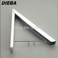 Wholesale And Retail Promotion Space Aluminum Clothes Drying Hanger Foldable Laundry Rack Bathroom Accessories