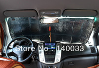 Wholesale Double sided Car Front Windshield Windscreen Aluminum Foil Visor Sunshades Cover Set Kit