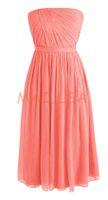 Cheap Maillsa Chiffon Sweetheart Short Prom Dress Knee Length Bridesmaid Dress with Belt