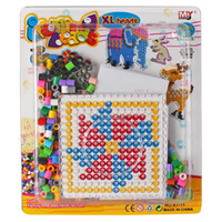 Wholesale Perler Beads ACtivity kits Hama beads sets EVA contains Clear Pegboards Hot sale diy educational toys Animal motifs AT11D