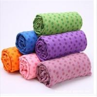 Wholesale Thickening yoga towel yoga blanket slip resistant yoga mat shop towels bag mesh bag