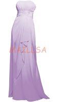 Cheap Maillsa Cheap Chiffon Strapless Prom Dress Floor Length Bridesmaid Dress Formal Dress