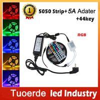 Wholesale m Waterproof led strip RGB led strips light christmas lights light key IR remote controller V A power supply