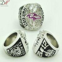 Wholesale fashion sport Ring Super Bowl Ravens Championship Ring for men big ring size