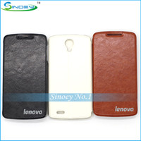 Wholesale High Quality SmartPhone PU Leather Case for the China Brand Cellphone Model Lenovo S820 With Black White Brown Colors Cellphone Case