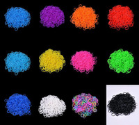 Wholesale 2014 New Colors Hot Sell Family Loom Bracelet Rubber Bands DIY Silicone Loom Refills Bands S Clips Pack