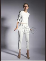 womens white dress pants suits - Pi Pants